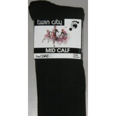 Twin City Black Socks (mid calf)