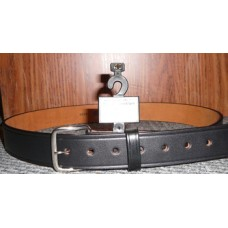 BOSTON Black Leather Belt