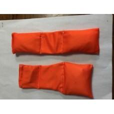 NEW Orange Football bean bags