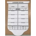 Lacrosse laminated scorecard