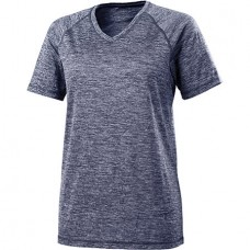 OI WOMENS HEATHERED V-NECK T