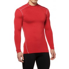 UNDER ARMOUR COLD GEAR COMPRESSION MOCK T (RED)