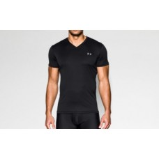 UNDER ARMOUR Performance HeatGear V-Neck T-Shirt (Black)
